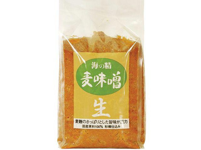 リニューアルしました!味噌本来の味と香り【(海の精) 国産有機・麦味噌 1kg】 [ムソー]