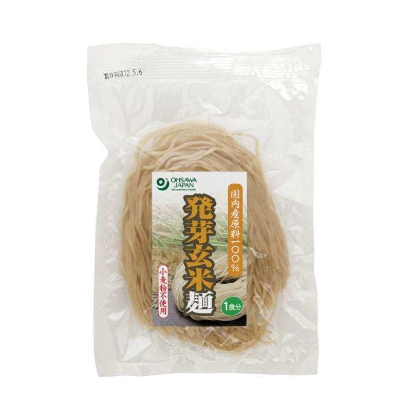 発芽玄米配合のつるつるの食感【発芽玄米麺 120g】 オーサワジャパンの麺類