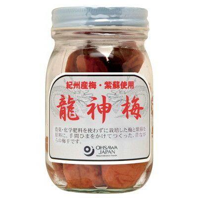 うす塩タイプ【龍神梅(りゅうじんうめ)(ビン)300g】 オーサワジャパンの梅干し
