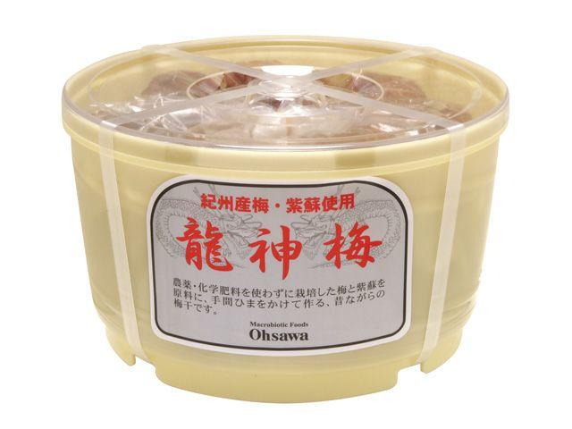 うす塩タイプ【 龍神梅(りゅうじんうめ)(1kg樽)】 オーサワジャパンの梅干し