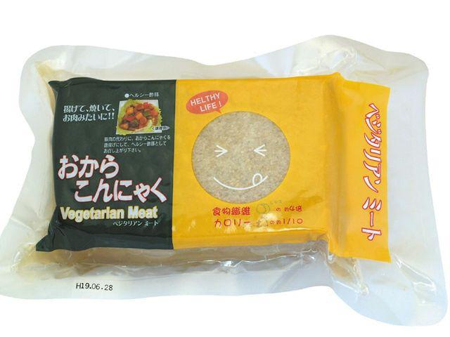 【おからこんにゃく(ベジタリアンミート) 340g】 オーサワジャパンの植物たんぱく食品