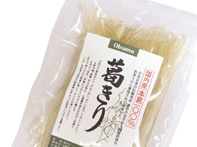 国産本葛100%【葛きり 100g】 オーサワジャパンの乾物
