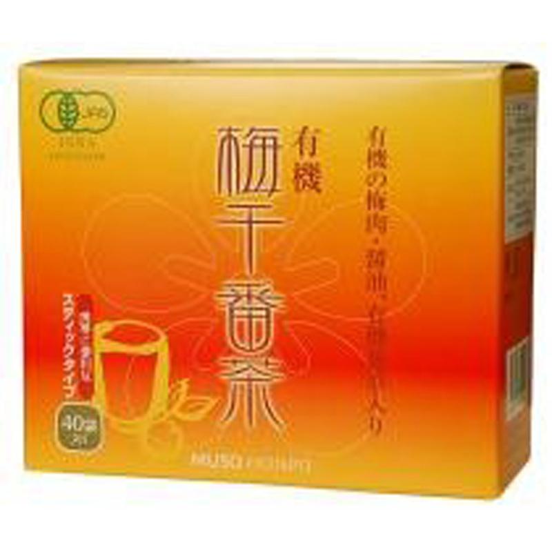 【有機梅干番茶 スティック 8gx40包】(ムソー)