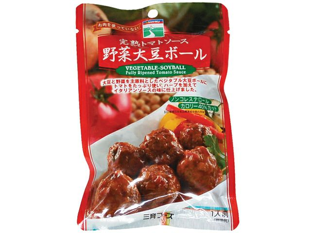 【トマトソース野菜大豆ボール100g(三育)】