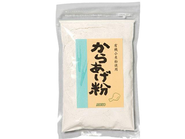 ムソー【有機小麦粉使用・からあげ粉 120g】 しっかり味付けがあるのに、すべて無添加の安心