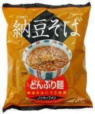 【どんぶり麺・納豆そば (81.5g)】(ムソー)国内産ひきわり納豆入りのおそばです!×4袋入