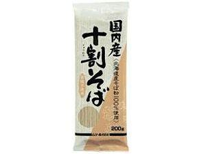 国内産・十割そば(ムソー・200g)