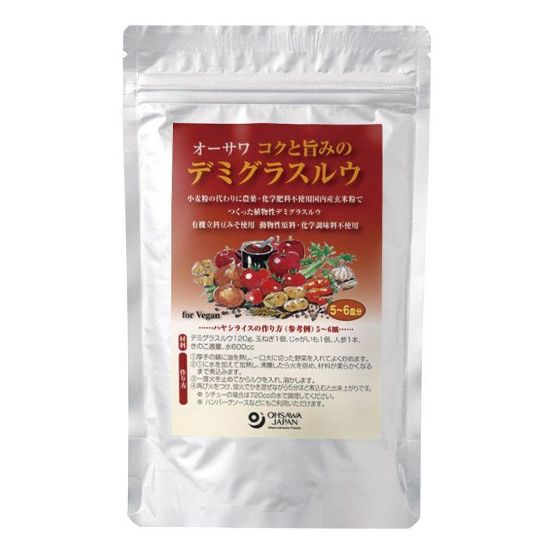 リニューアルしました!【オーサワのデミグラスルウ】小麦の代わりに玄米粉を使用 添加物・動物性原料不使用(オーサワジャパンのその他調味料)