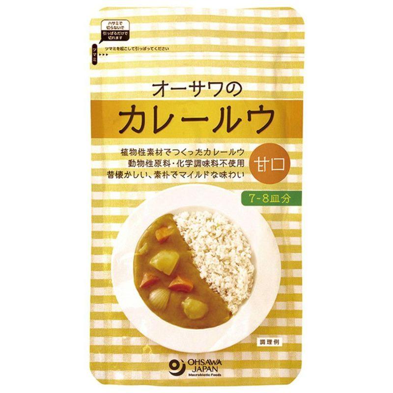 植物性素材でつくった【オーサワのカレールウ(甘口)】160g