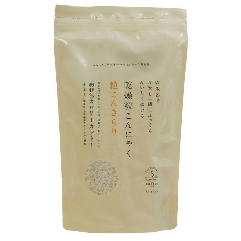 こんにゃく米でヘルシー生活【トレテス 乾燥粒こんにゃく・粒こんきらり 65g×5袋】