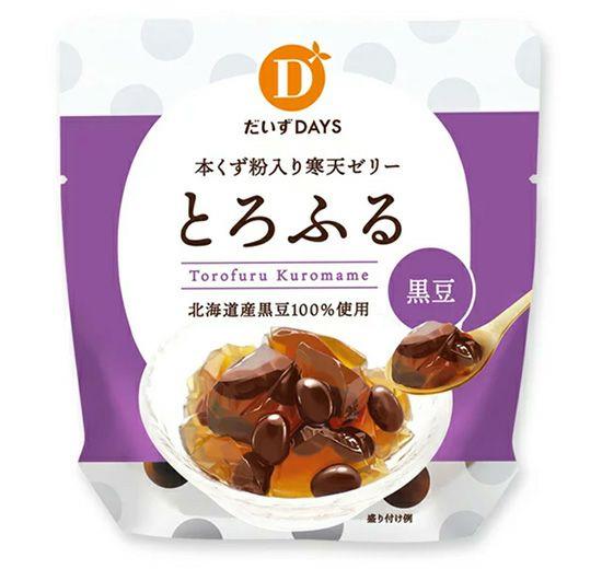 【夏季限定】本くず粉入り寒天ゼリー・とろふる黒豆(だいずデイズ)110g